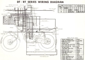 Yamaha RT1 360 Enduro Motorcycle Wiring Schematics