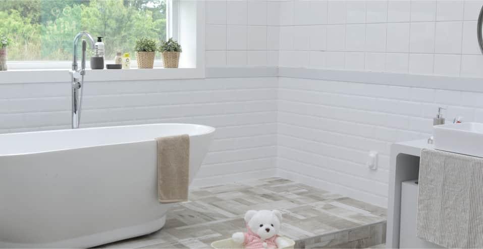 De badkamer opgeruimd en schoonhouden