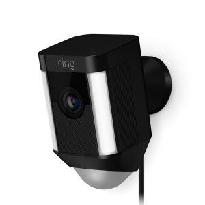 ring spotlight video camera, beveiligingscamera bedraad