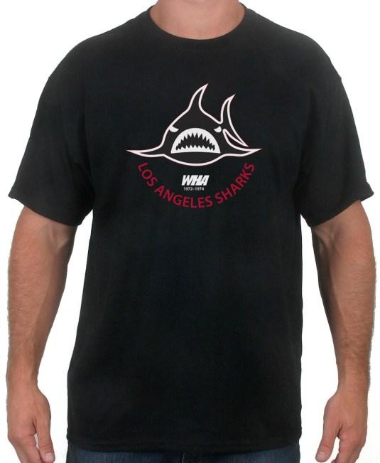 Los Angeles Sharks black hockey tshirt