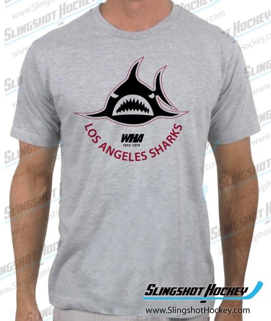 Los Angeles Sharks WHA Hockey shirt heather grey
