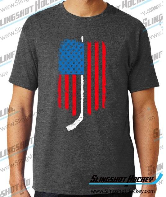 American-Flag-Hockey-charcoal-heather-grey-hockey-tshirt