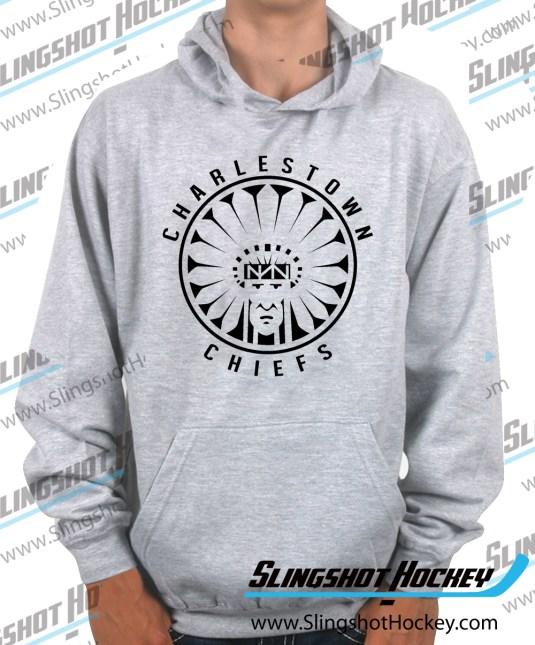 Charlestown-Chiefs-Warrior-slapshot-heather-grey-hockey-hoodie