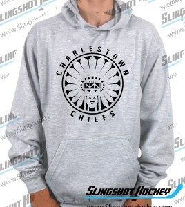 Charlestown-Chiefs-Warrior-slapshot-heather-grey-hockey-hoodie