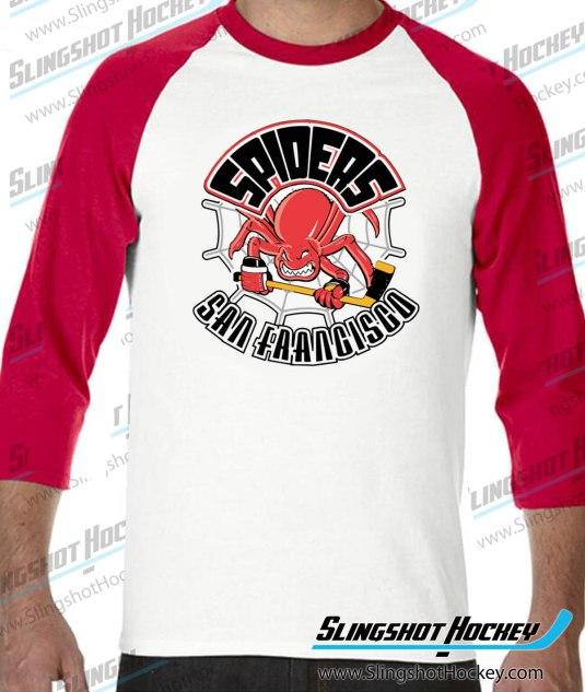 San-Francisco-Spiders-raglan-white-red-slingshot-hockey