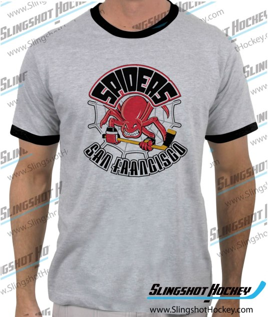 San-Francisco-Spiders-ringer-heather-grey-black-mens-tshirt