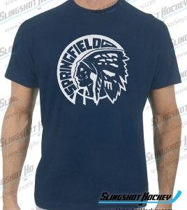 Springfield-Indians-hockey-navy-tshirt