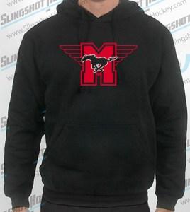 hamilton-mustangs-mens-black-sweatshirt-front-slingshot-hockey