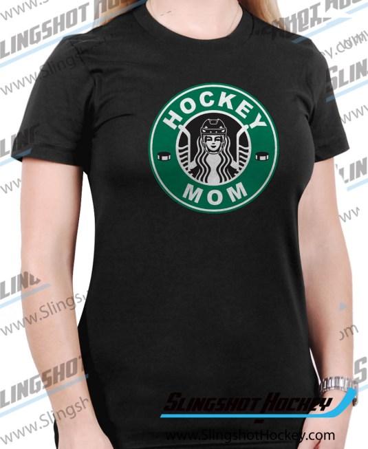 hockey-mom-starbucks-Womens-Black-hockey-shirt