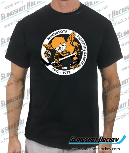 Minnesota-Fighting-Saints-black-mens-hockey-tshirt