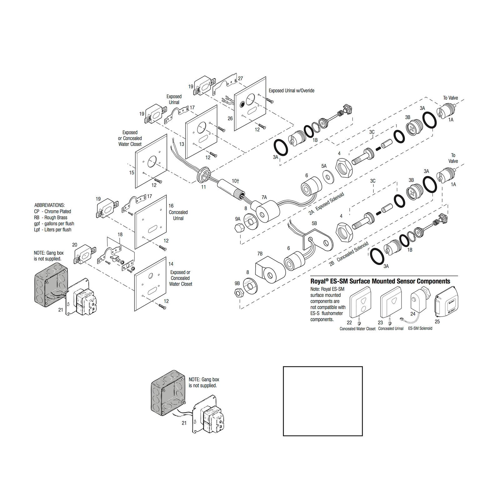 Sloan Optima Urinal Flush Valve Parts
