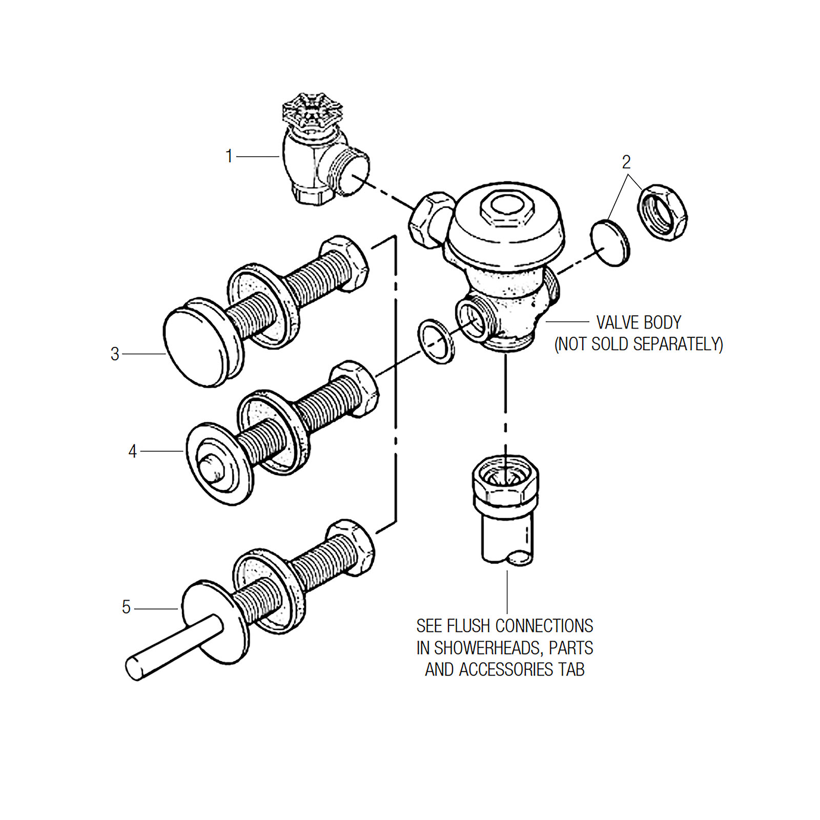 Commercial Toilet Flush Valve Diagram