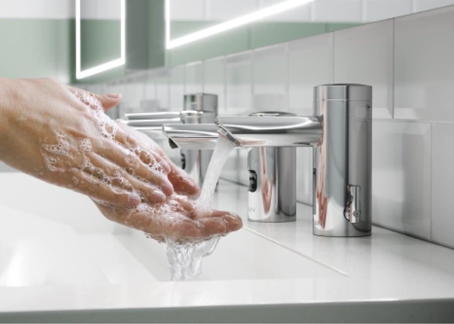 water efficient commercial bathroom