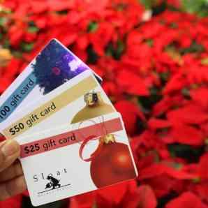 Sloat gift cards for spring time vegetable gardening