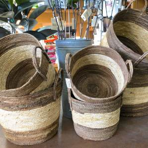 Multi-use straw & rattan baskets are lovely gifts