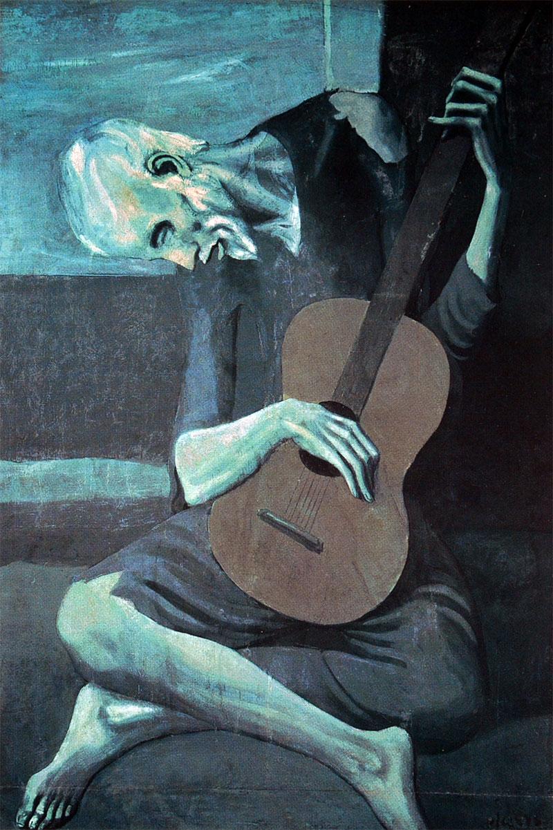 Resultado de imagen para guitarrista ciego picasso