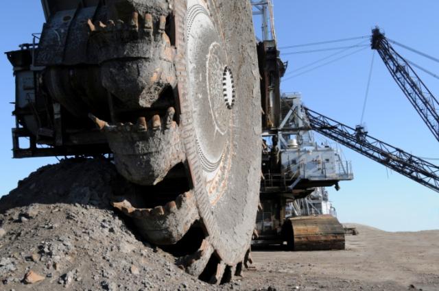 Oil sands mining in Alberta