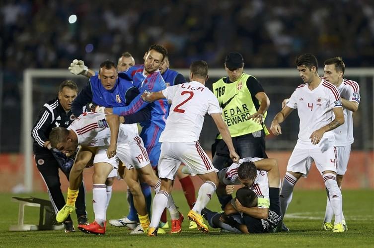 srbija albanija tučnjava