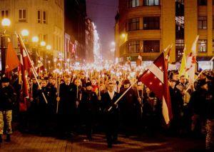 Mimohod za latvijske legionare iz Drugog svjetskog rata