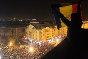 Rumunji prosvjeduju (izvor: FrontPress.ro)