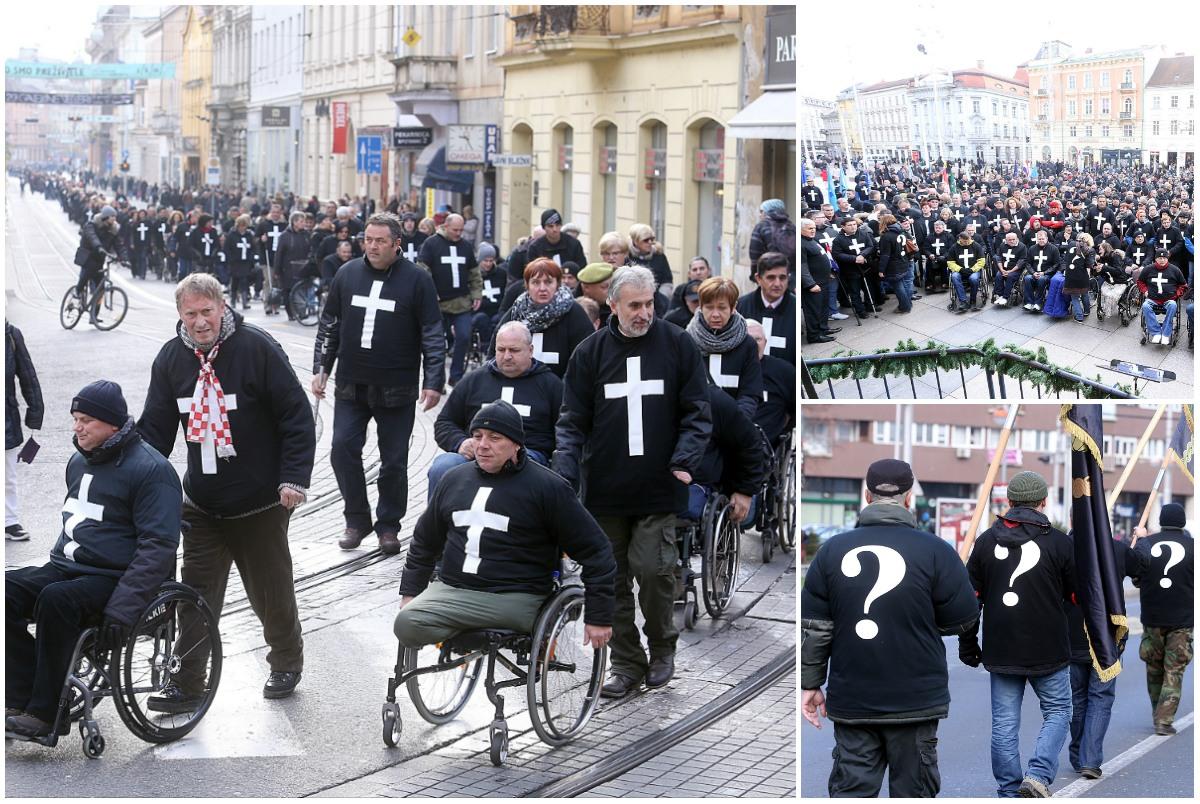 branitelji prosvjed Jedan križ za jedan život glogoški klemm