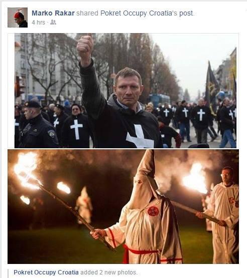 branitelji josipović stožer klemm marko rakar Ku Klux Klan