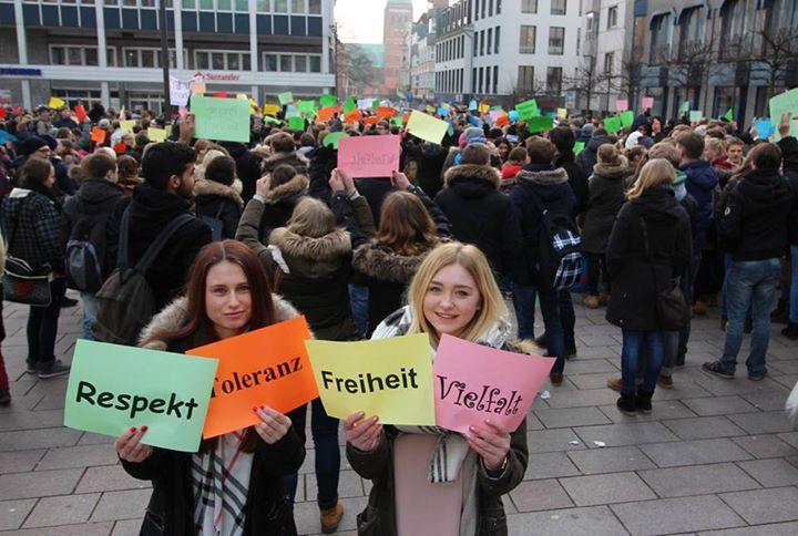 njemačka prosvjed pegida učenici