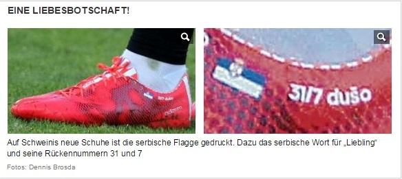 Bastian Schweinsteiger srpska zastava