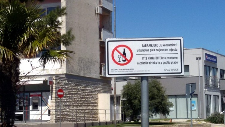 vodice zabrana konzumiranja alkohola