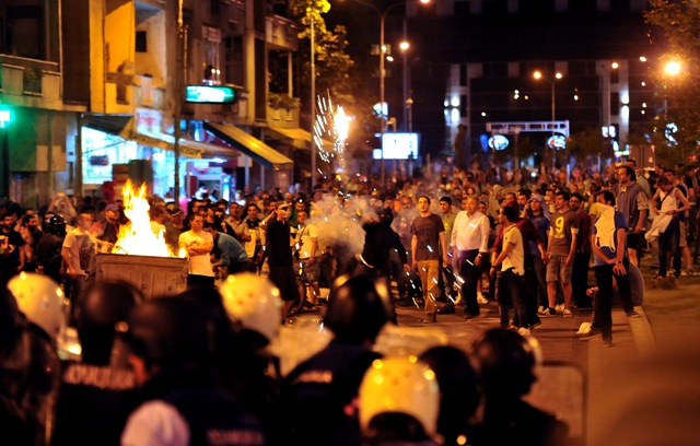 skoplje makedonija prosvjed neredi