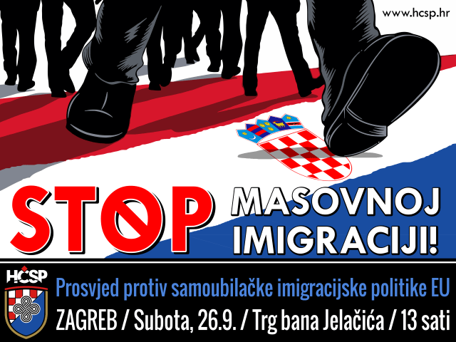 hčsp prosvjed protiv imigracijske politike imigranti izbjeglice