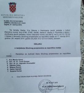 portal h-alter povjerenstvo ministarstvo kulture zlatko hasanbegović