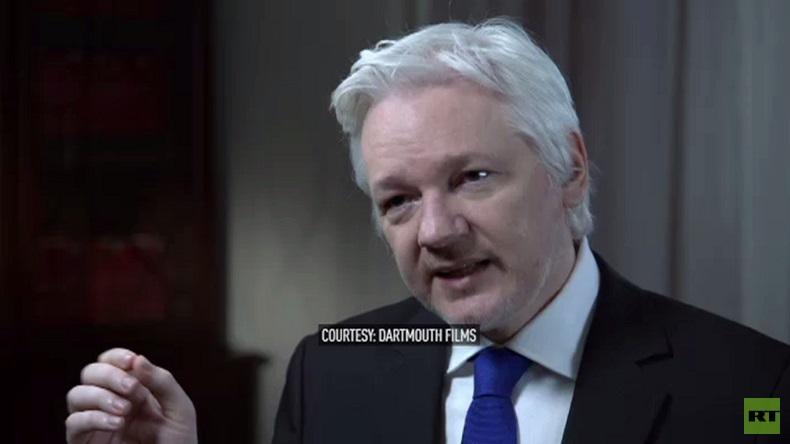 assange hillary clinton trump