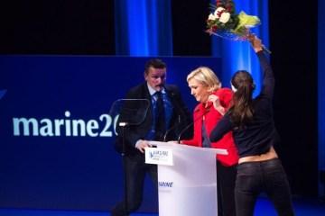 marine le pen, front national, francuska, femen