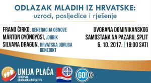 odlazak mladih iz hrvatske, wage union, unija plaća, jobbik, generacija obnove, hrvatska udruga benedikt, split, silvana dragun, frano čirko, marton gyongyosi