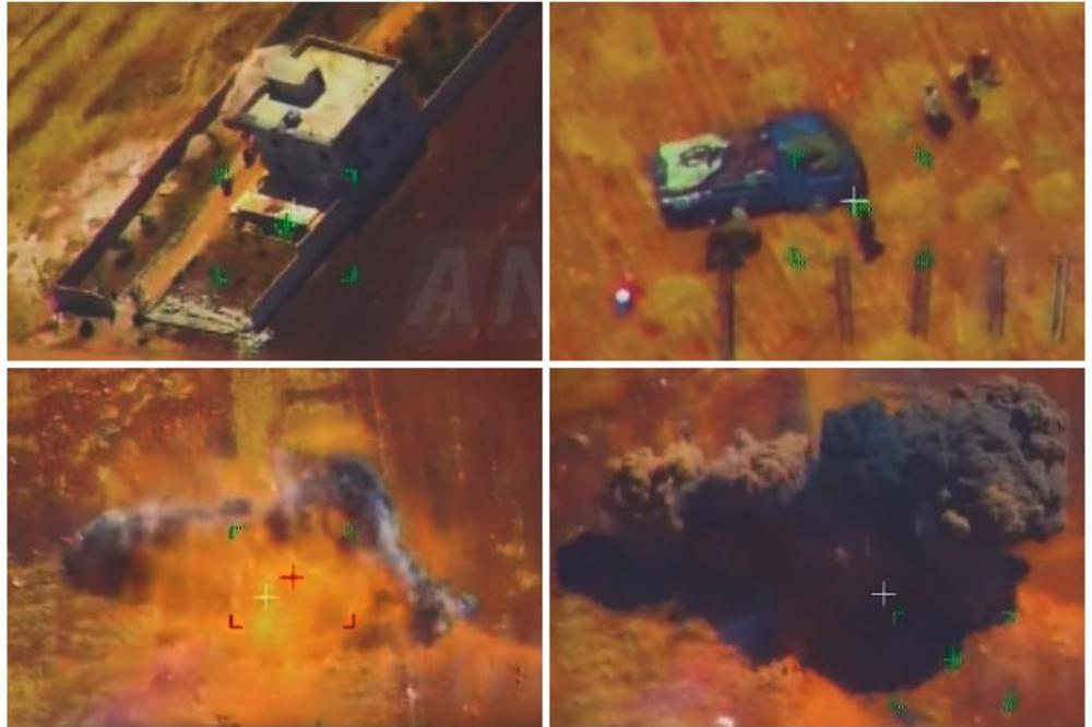 КАКО РУСИТЕ ГИ УНИШТУВААТ ТЕРОРИСТИТЕ ВО СИРИЈА: Слушнаа авион, се обидоа да избегаат, но ракетата е побрза!