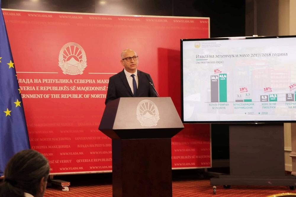 Димковски: Трудот на земјоделецот се вреднува, растат откупните цени и извозот на земјоделските производи