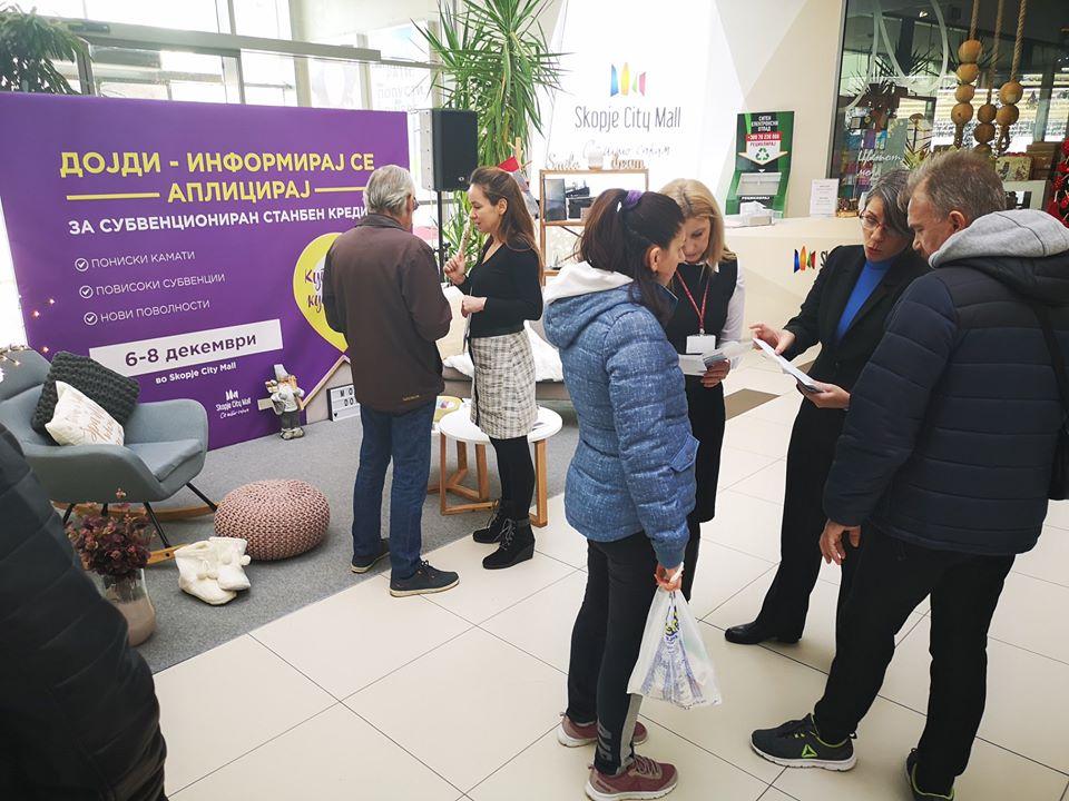 """Ангеловска во обиколка на штандовите на учесниците на Саемот """"Купи куќа, купи стан"""""""