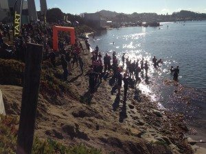 Morro Bay Triathlon start on Mother's Beach
