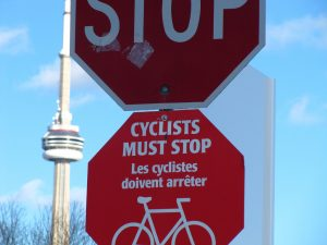 cyclist stop sign
