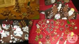 Boże Narodzenie - ozdobne pierniczki na stół, bombki na choinkę, świeczniki, domki z piernika