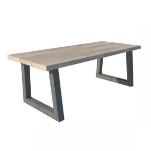 Industrieel stalen trapezium frame voor houten blad