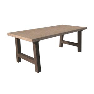 Klassiek onderstel staal stalen frame houten blad