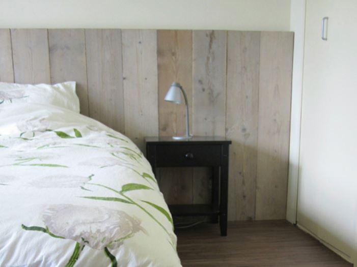 bed achterwand van steigerhout
