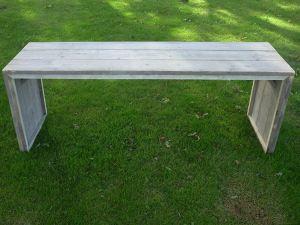 Tafel van steigerhout groot