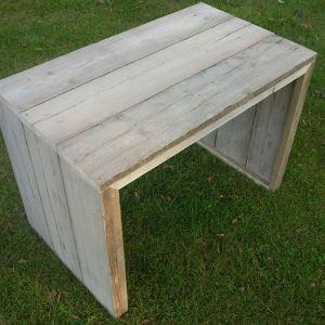 Studeertafel omgekeerde u-vorm klein van steigerhout