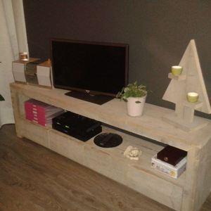 TV meubel lang van steigerhout