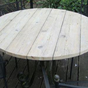 6.4 Tafelblad rond van steigerhout