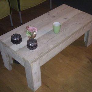 Salontafel van steigerhout.