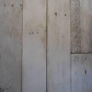 1.5 Sloophout breed geschuurd en gelakt Vintage White 800mm/1200mm per m2